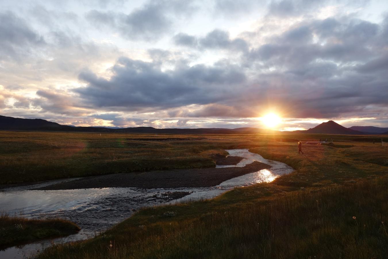 Soumrak u Mývatnu
