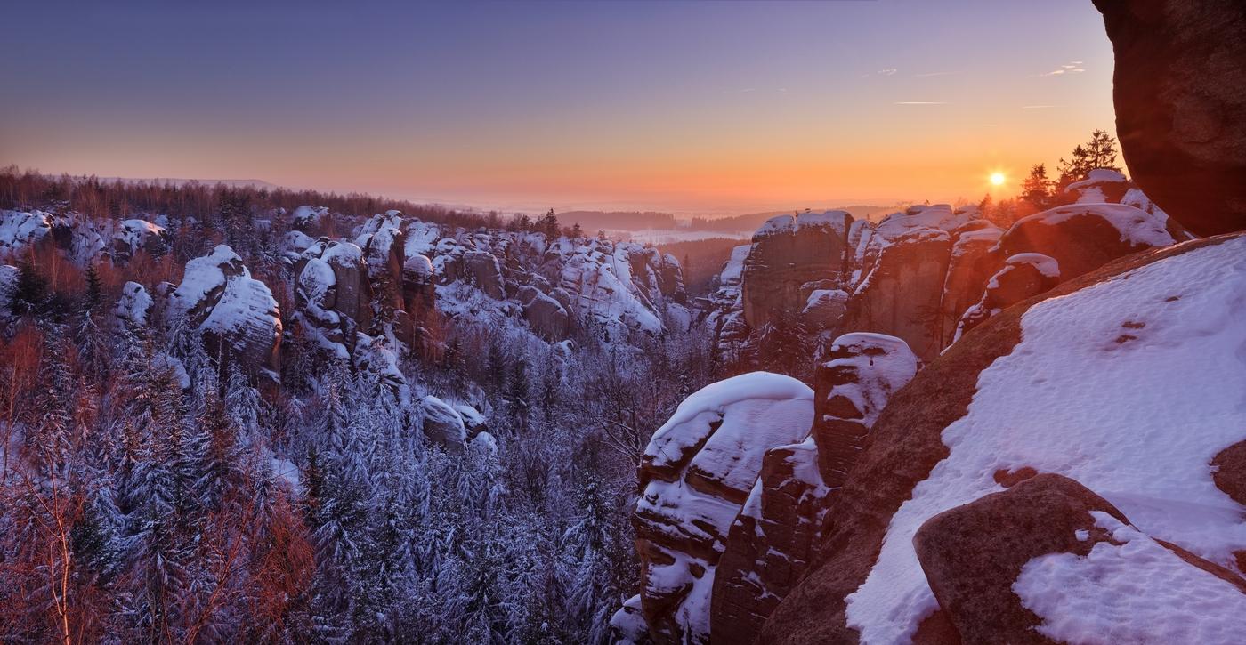 Západ slunce v Kovářově roklině