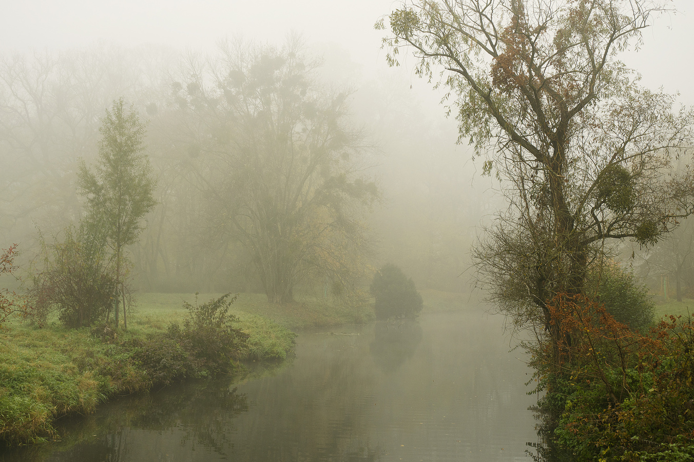 Podzimní romance u řeky