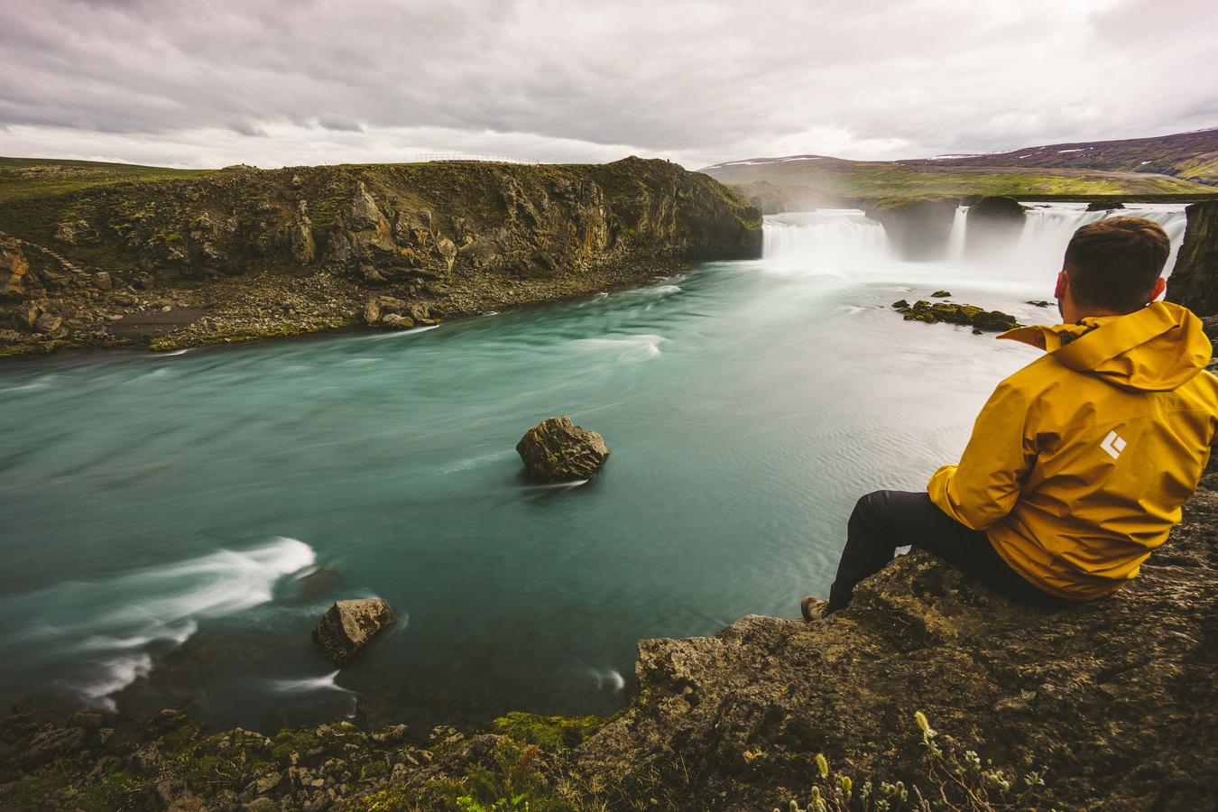Pohled na vodopád Goðafoss