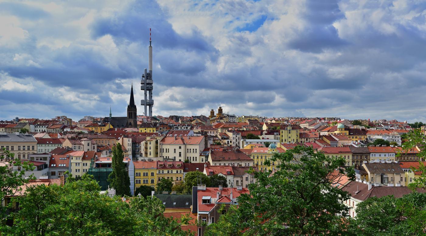 Pohled na pražský Žižkov