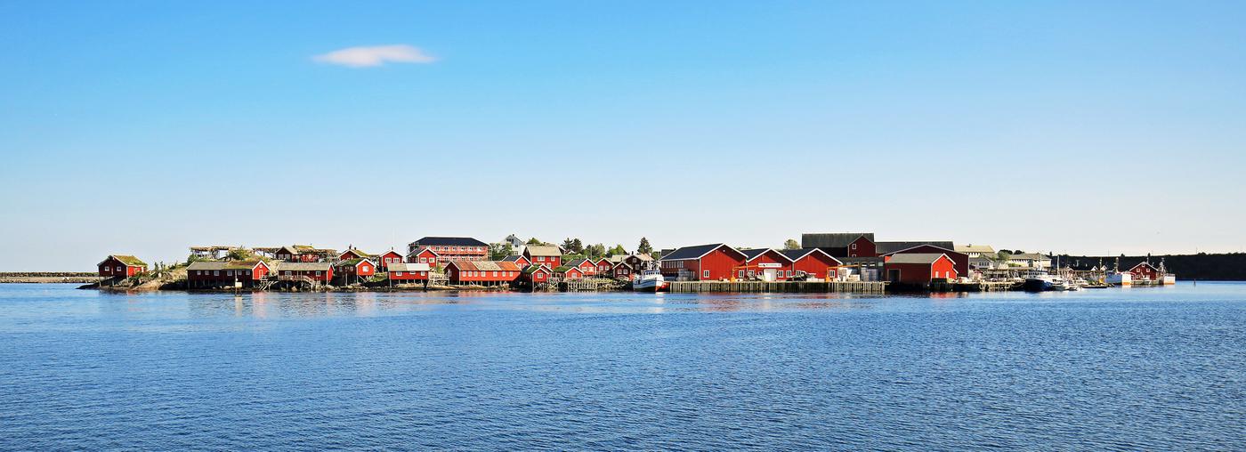 Reine - rybářská vesnička na Lofotech