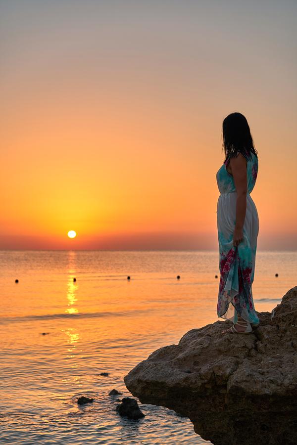 Při čekání na východ slunce.