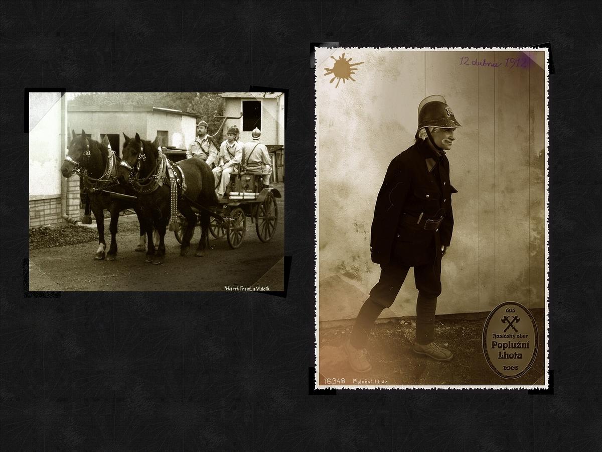 Z alba hasičského sboru v Poplužní Lhotě - Hamru