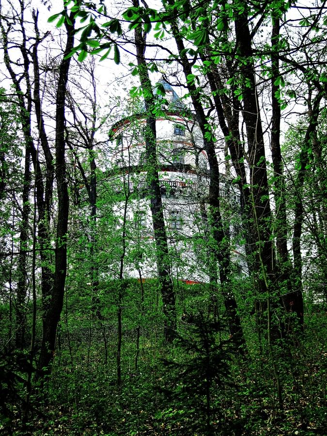 Zámek Humprecht za stromy