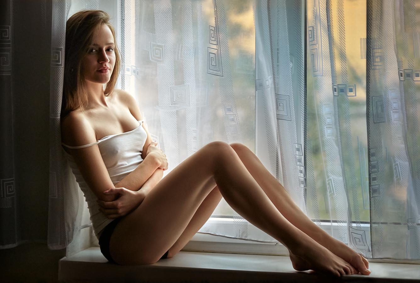 Beauty in window