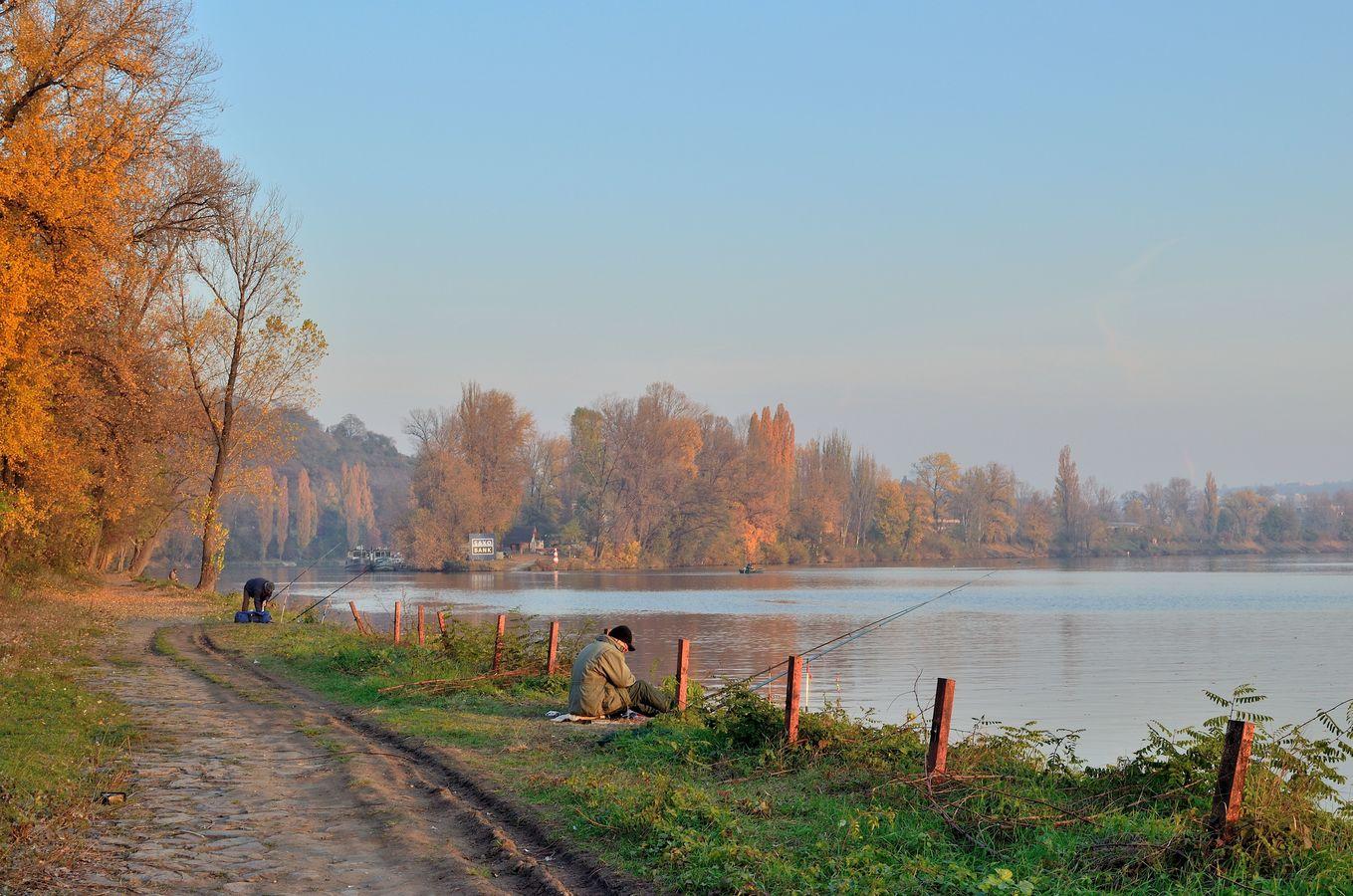 Rybaření na Vltavě