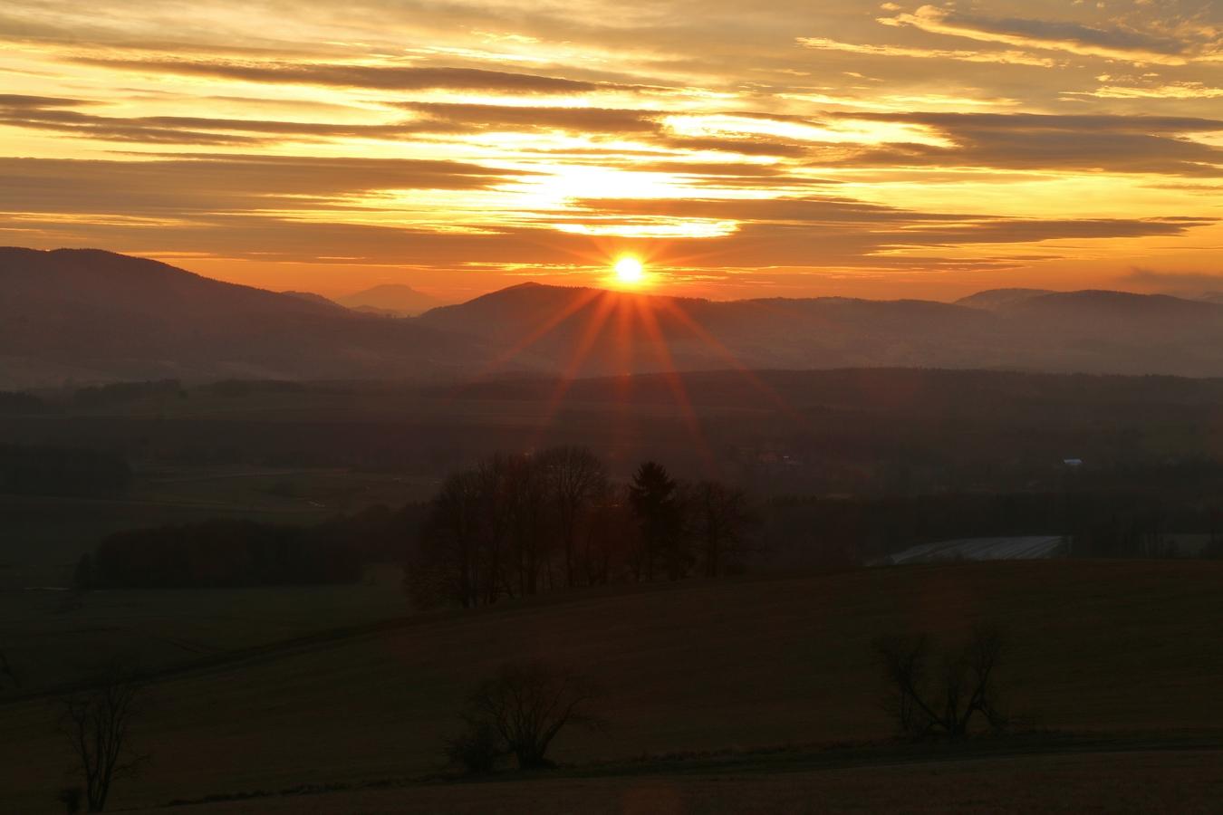 Západ slunce v Lužických.....