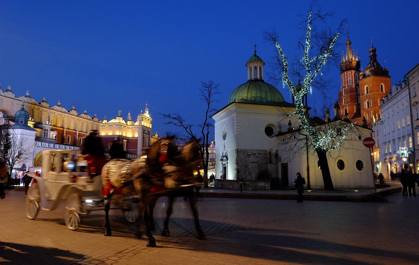 Vánoční trhy v Krakowě