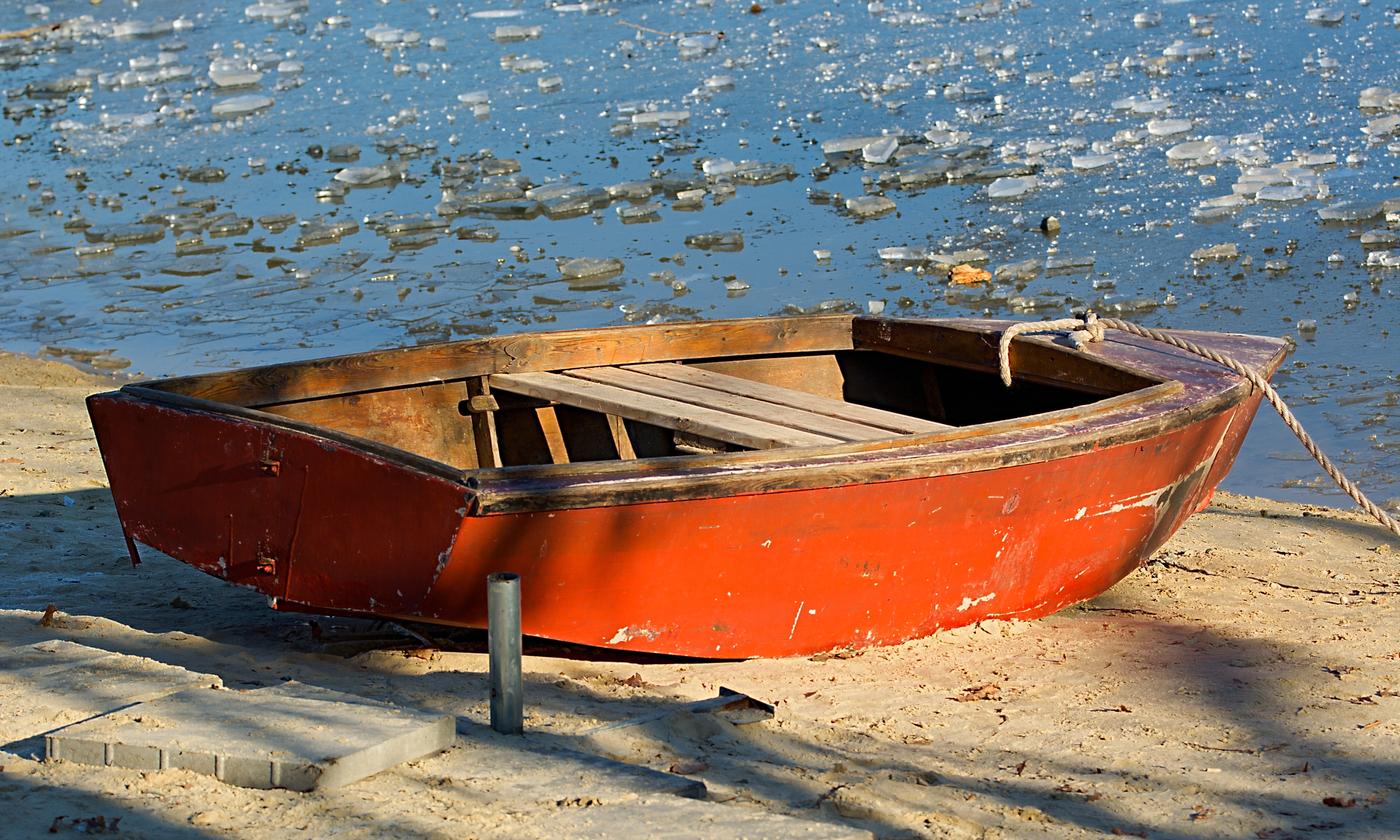 loďka je v cíli