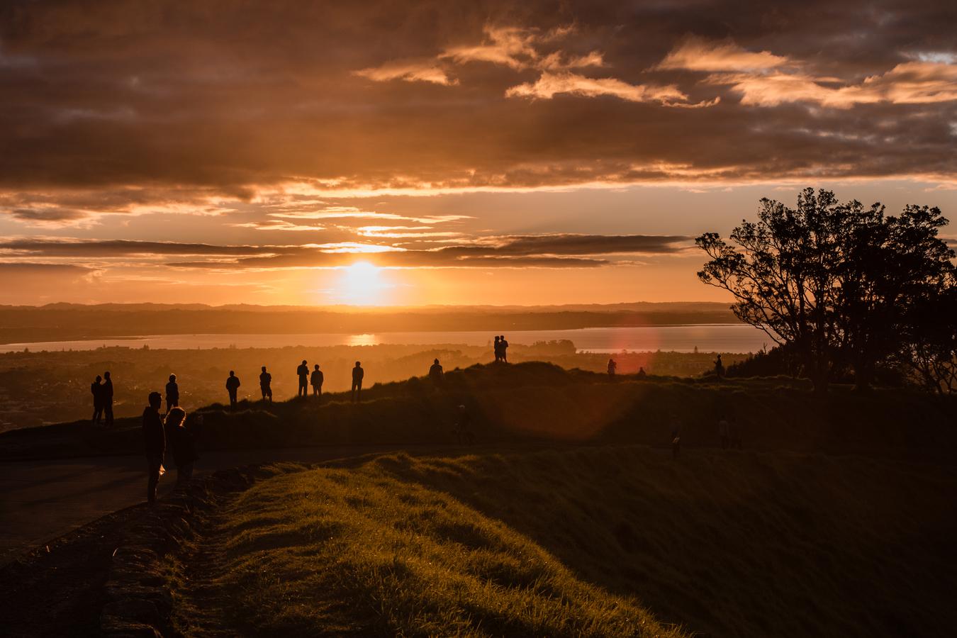 Západ slunce na Mt Eden
