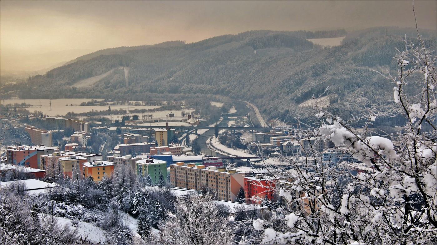 první sníh na Valašsku