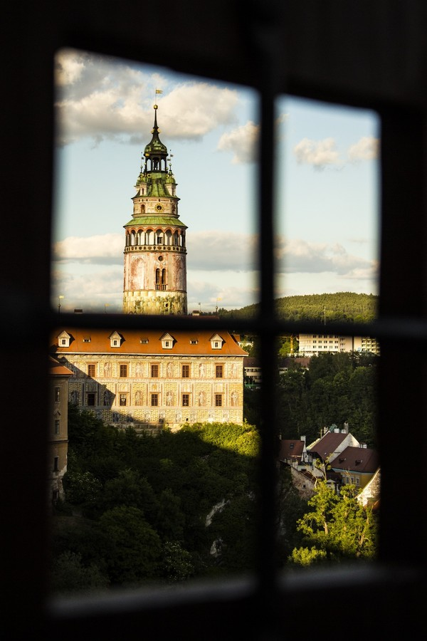 Zámek v okně