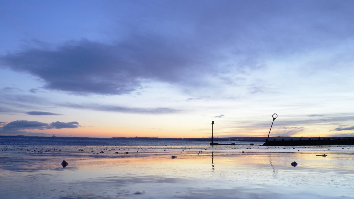 Východ slunce na Portobello Beach
