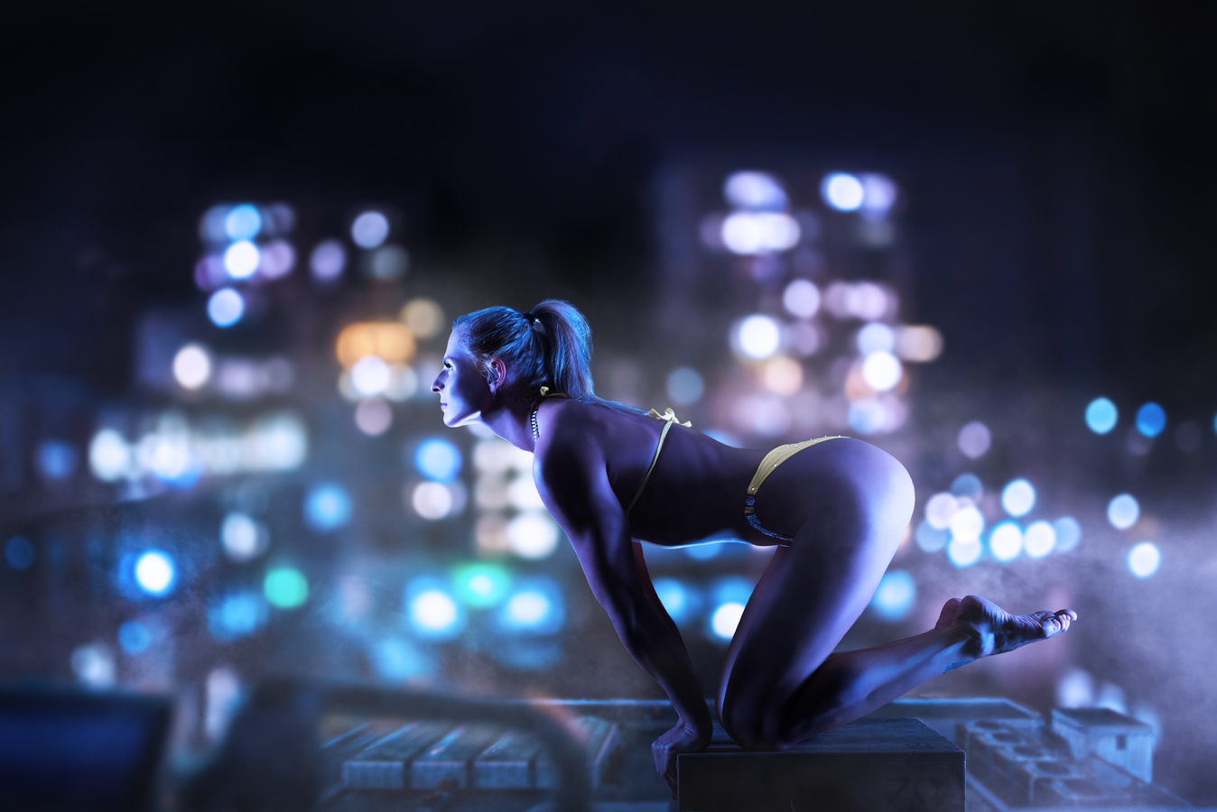 Rooftop night time