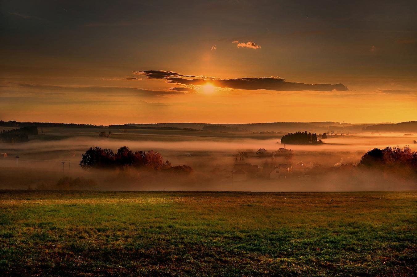 Podzimní mlhy na Vysočině