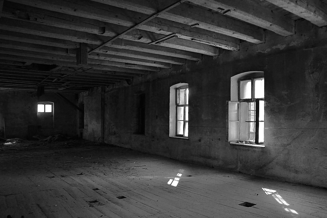 Interier  skladů starého mlýna