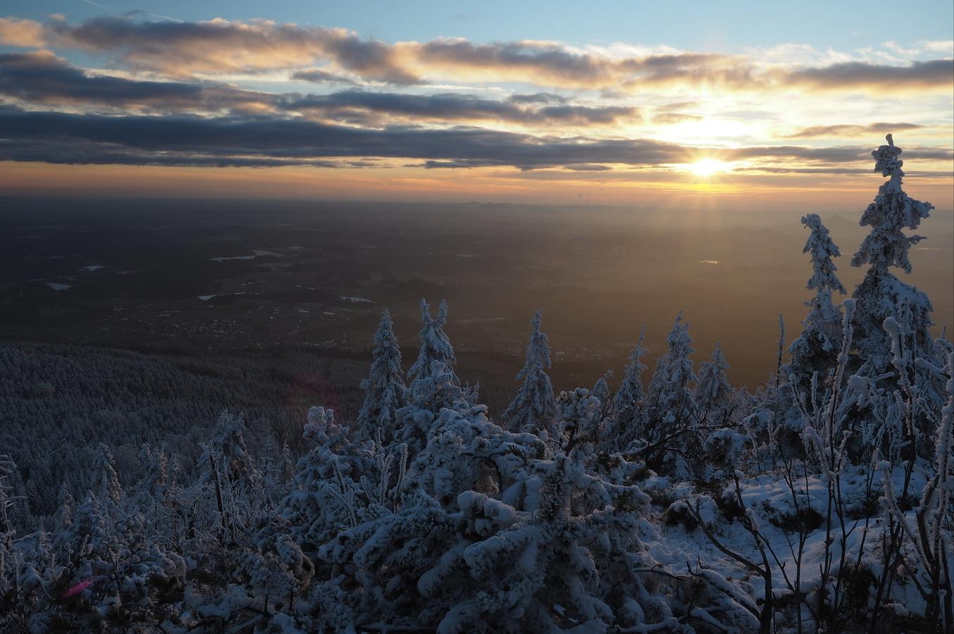 ,,Zimní'' západ slunce.