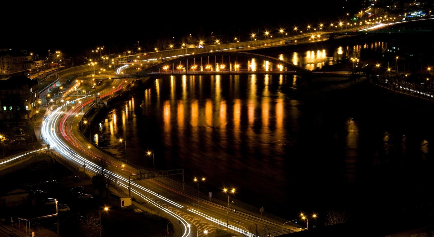 Ústí nad Labem - noční pohled