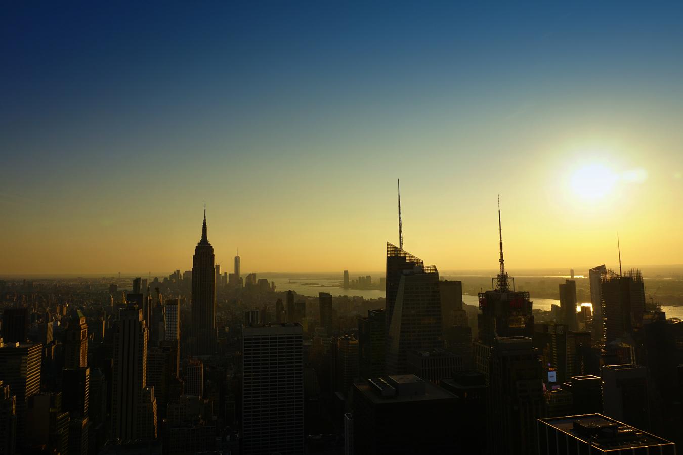 Západ slunce na Manhattanu