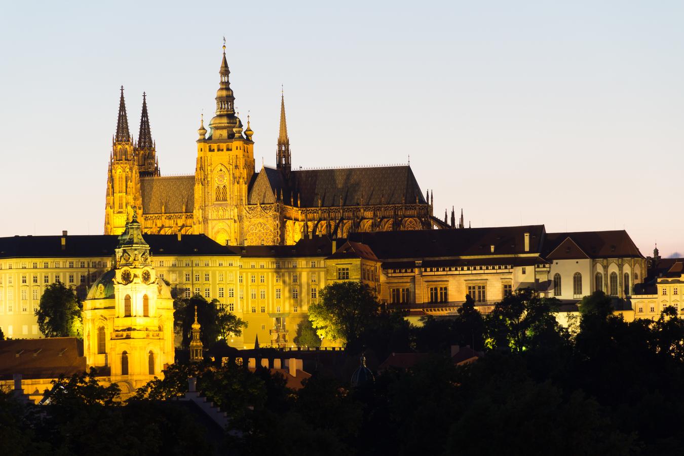 Pražský Hrad po západu