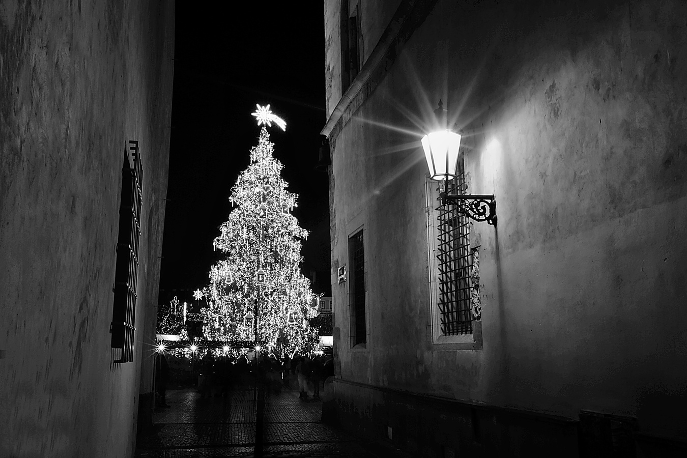 ,,černo bílé vánoce,,
