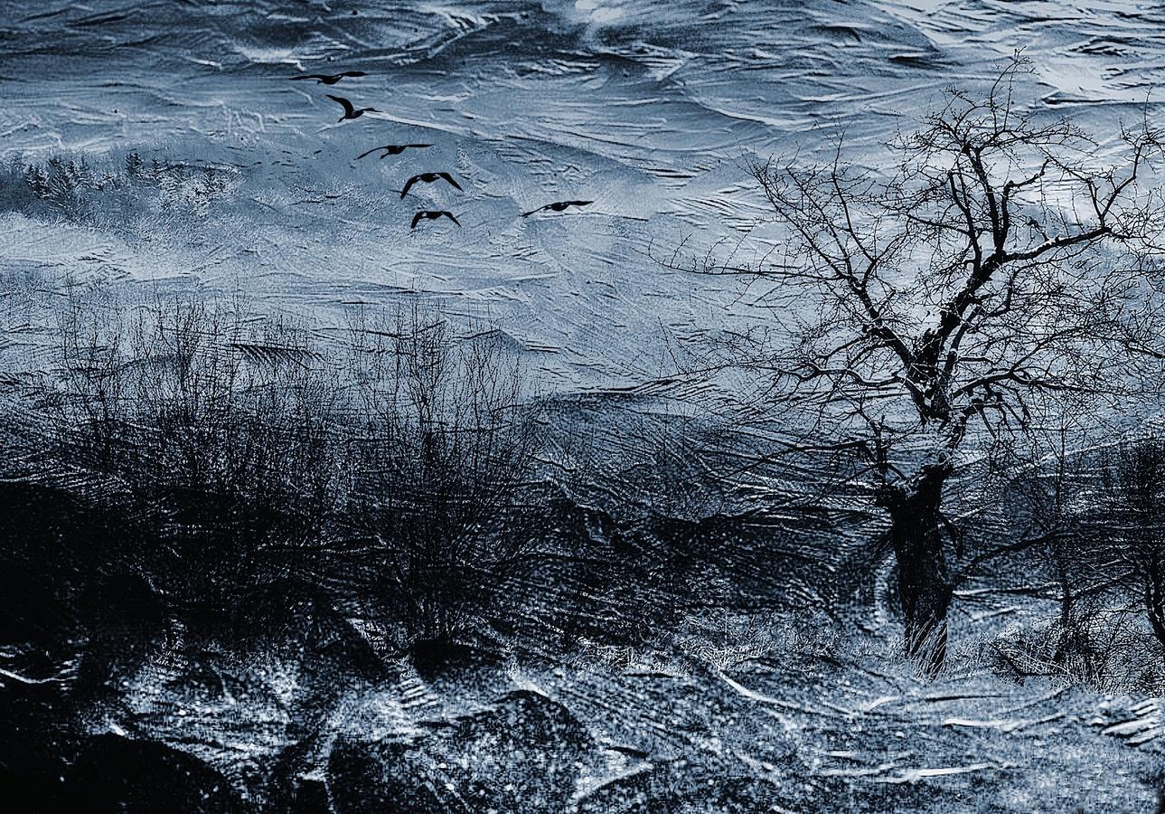 Rozbouřená krajina - fotografika