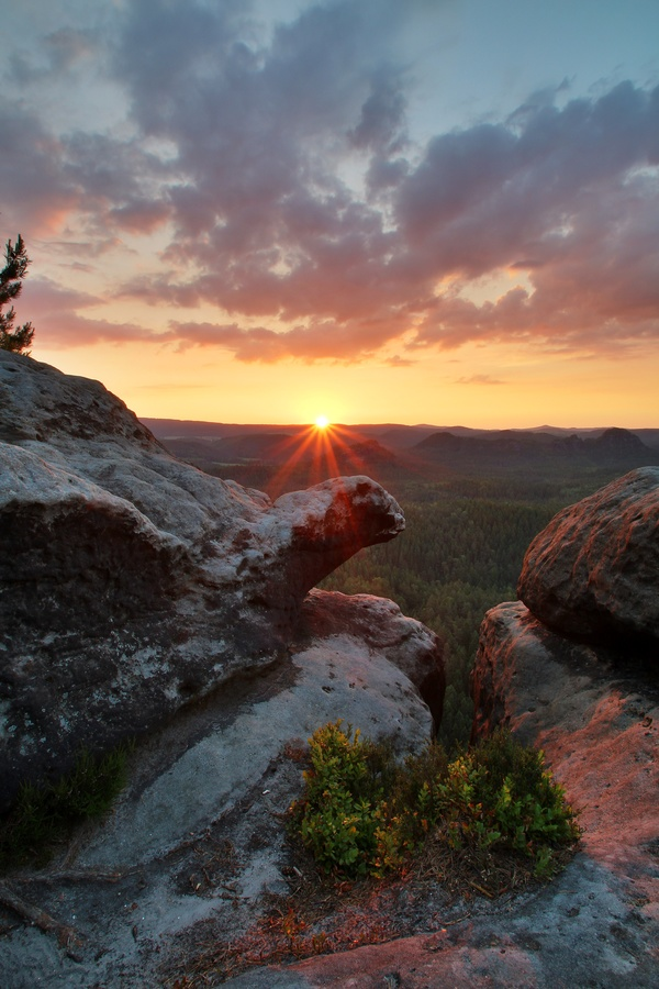 Pohled na východ slunce