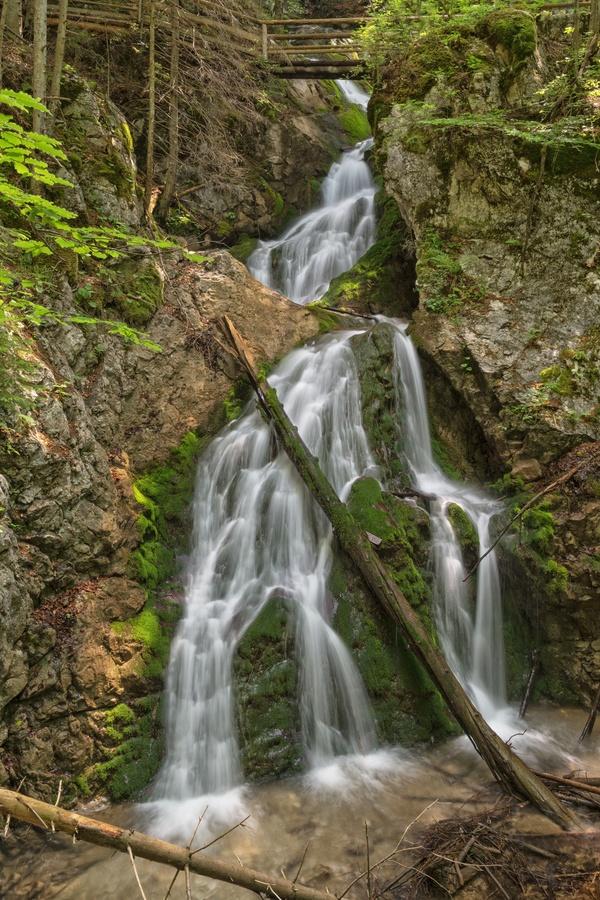 Vodopád v národním parku Kalkalpen