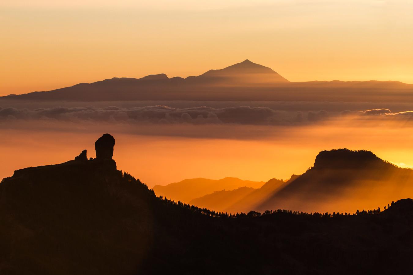Roque Nublo a Pico de Teide