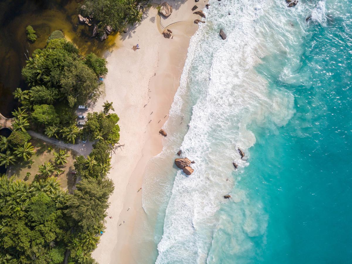 Ptačí pohled na Seychelly