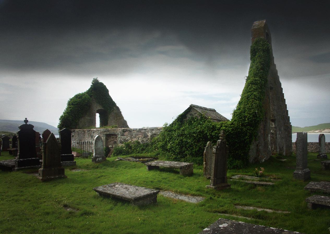 Trosky kostela a hřbitov v Balnakeil - Skotsko