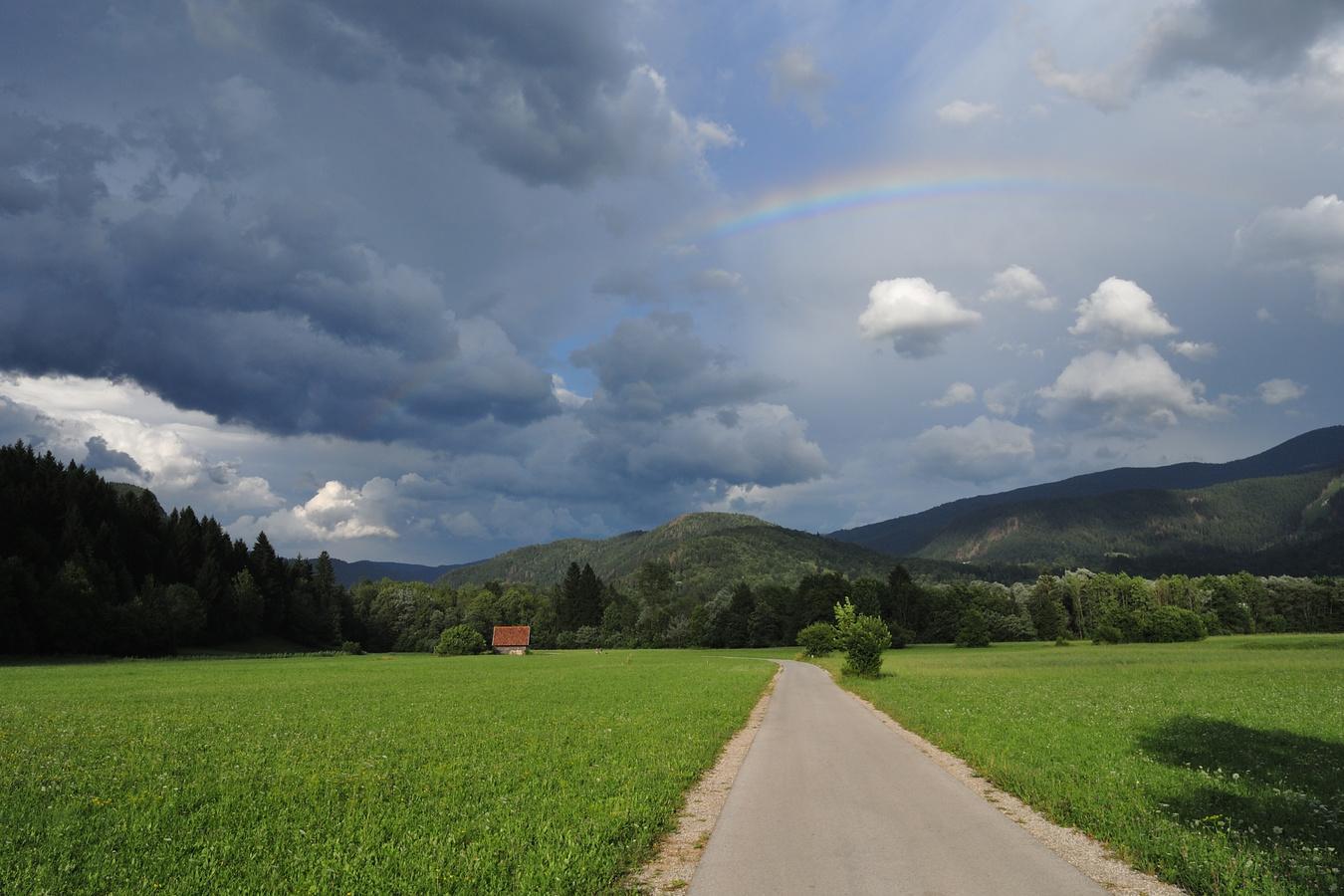 na cyklostezce u Bohinjské Bistrice (Slovinsko)