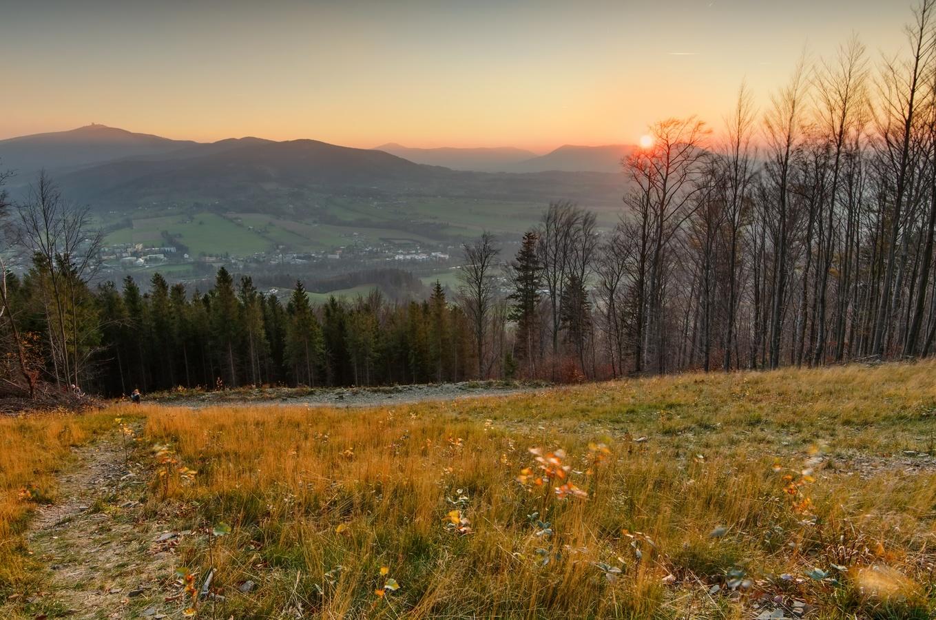 Západ slunce na Prašivé