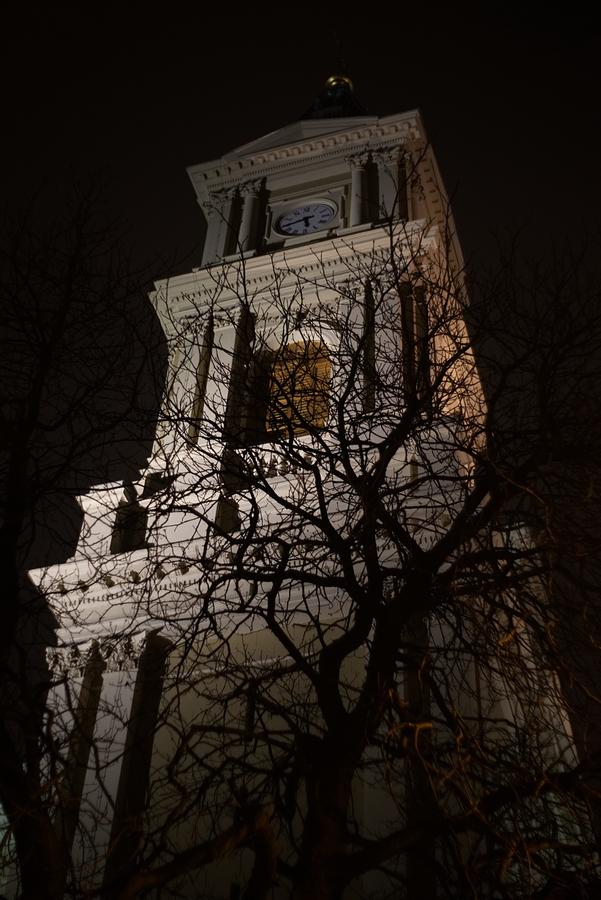 Věž katedrály Božského Spasitele