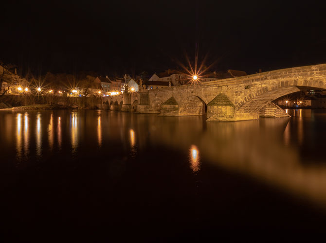 Noční Písecký most