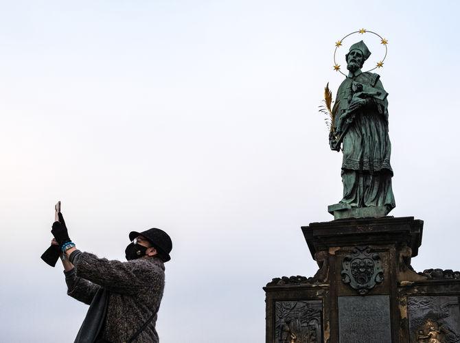 Selfie se sv. Janem Nepomuckým
