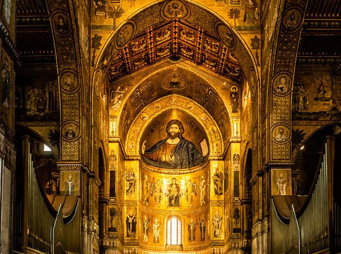 Monreale, hlavná loď katedrály