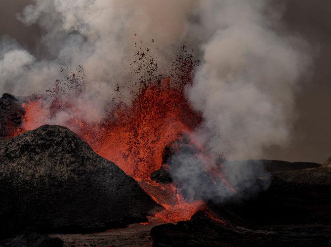 FAGRADALSFJALL vulkán