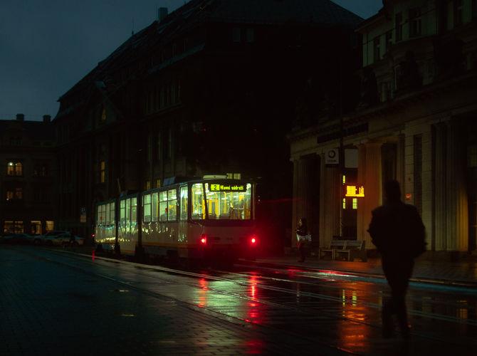 Deštivý podvečer v Ostravě