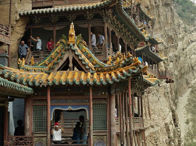 Hanging Temple in Mt. Hengsham