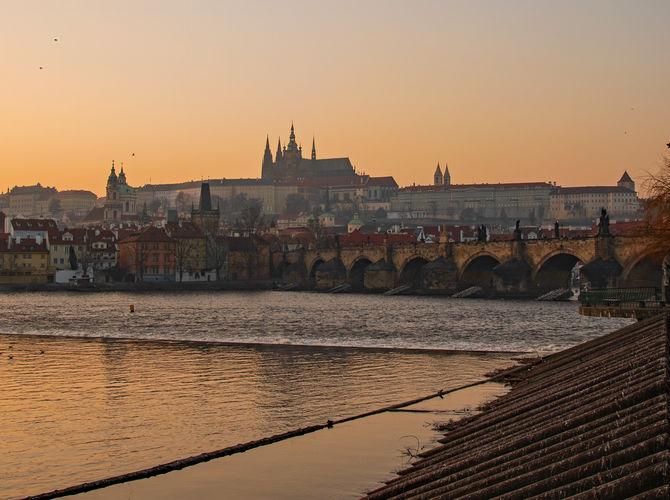 Pražský hrad při západu