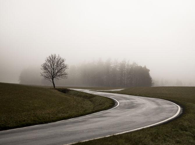 Mlhavý jarní den
