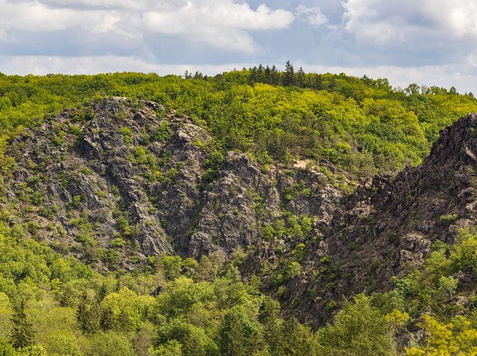 Z vyhlídky na rezervaci Divoká Šárka