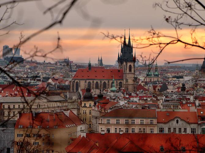 Praha z Letenských sadů