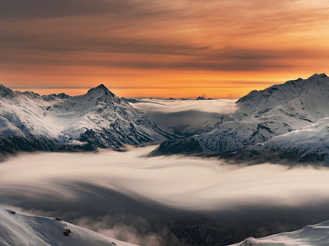 Moře mezi alpskými velikány