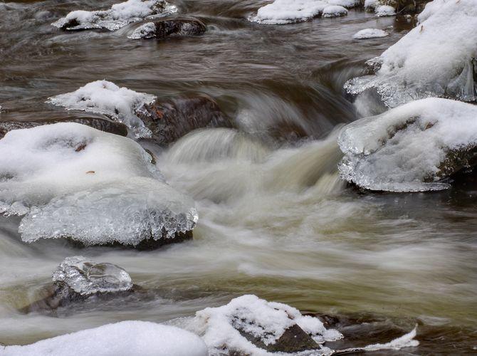 Terčino údolí v zimě
