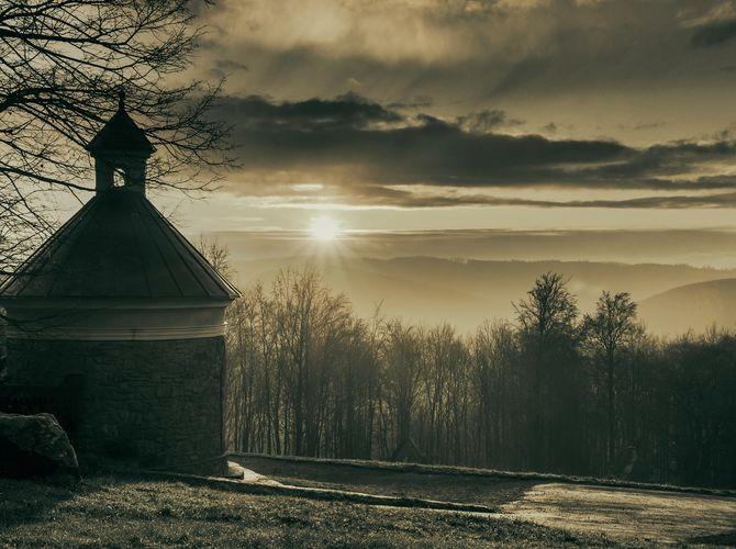 Sváteční ráno na Hostýně (17. 11.)