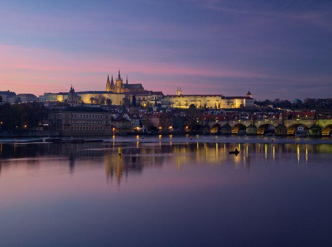 Soumrak v Praze