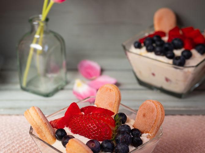 Mascarpone s ovocem